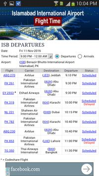 Islamabad Airport Flight Time apk screenshot