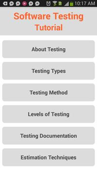 Software Testing Tutorial poster
