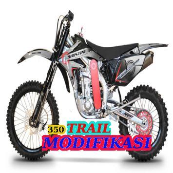 350 Modifikasi Motor Trail poster