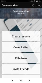android 用の curriculum vitae app cv builder free resume maker apk