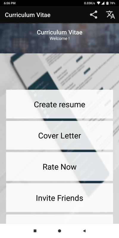 Curriculum Vitae App Cv Builder Resume Cv Maker For Android Apk