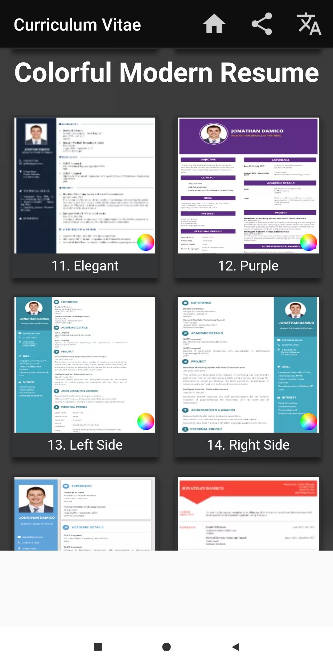 Curriculum vitae App CV Builder