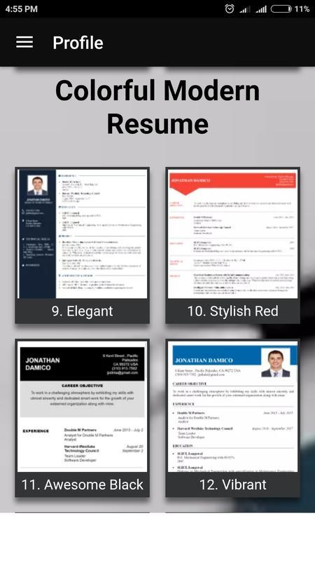 android 用の free resume builder cv maker templates pdf formats apk