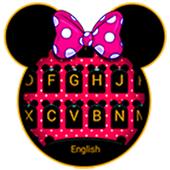 Cute Minny Bowknot Keyboard Theme icon
