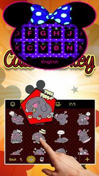 Cute Minny Bowknot Keyboard Theme poster