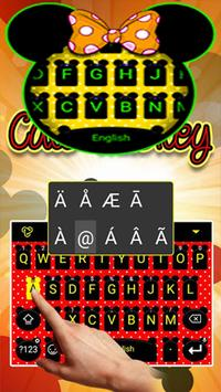 Cute Minny Bowknot Keyboard Theme apk screenshot