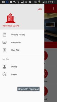 Hotel Royal Cuisine screenshot 1