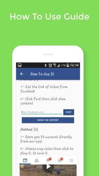 ViDonw -HD Facebook Videos Downloader apk screenshot
