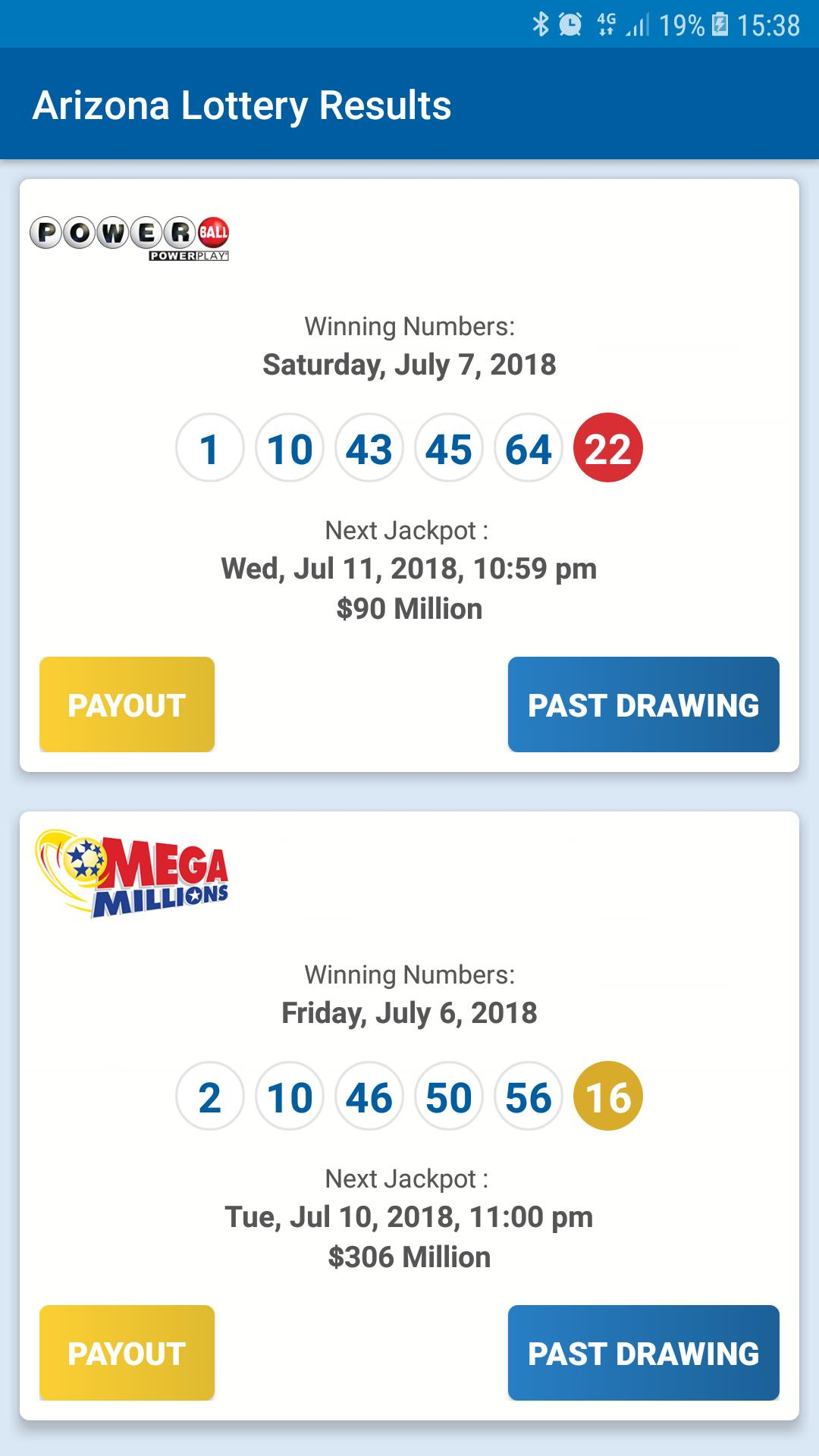 Arizona Lottery Results for Android - APK Download
