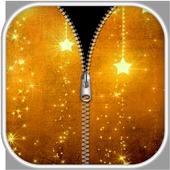 Gold Zipper Screen Lock icon