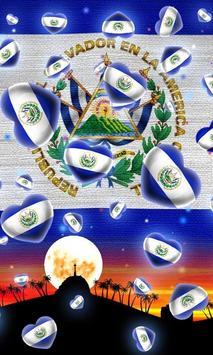El Salvador Flag Wallpaper poster