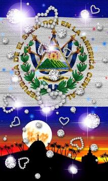 El Salvador Flag Wallpaper screenshot 2