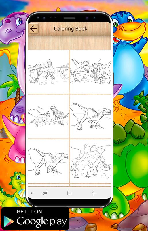 New Dinosaurs Coloring Book For Android