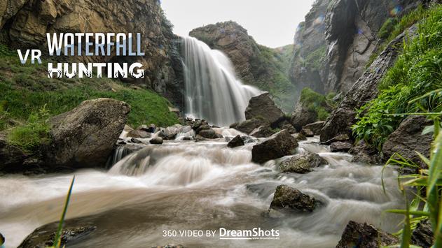 Waterfall Hunting VR Cardboard poster