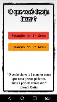 Equação de 1º e 2º Grau poster