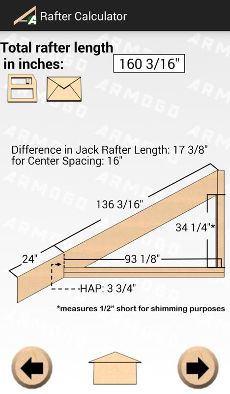 how to find rafter length with height and length
