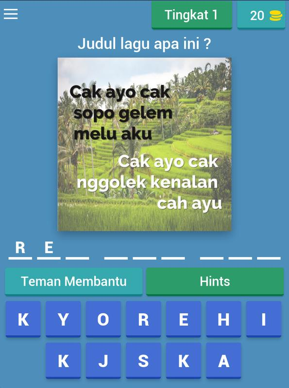 Tebak Judul Lagu Daerah For Android Apk Download