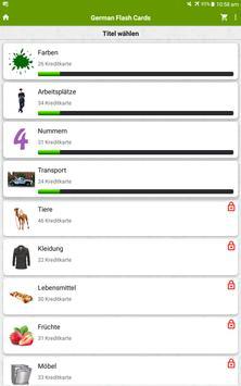 German Flash Cards screenshot 4