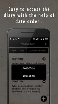 Personal Diary apk screenshot