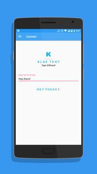 Blue Text screenshot 1