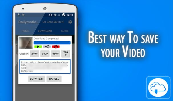 Download youtube,facebook,dailymotion videos from android mobile.