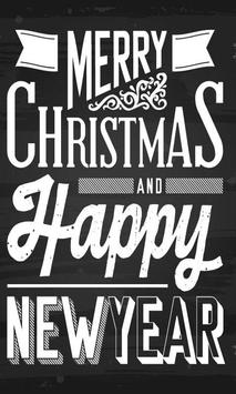 Christmas happy new year 2016 poster