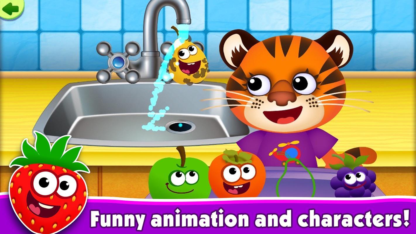Juegos Educativos Para Ninos De 3 Anos Funny Food For Android Apk