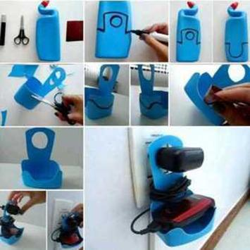 DIY Plastic Bottle Craft Ideas Poster Apk Screenshot