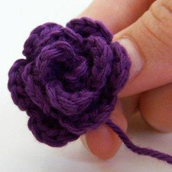 Easy Crochet Flower Tutorial apk screenshot