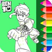 Ben 10 Coloring Book icon