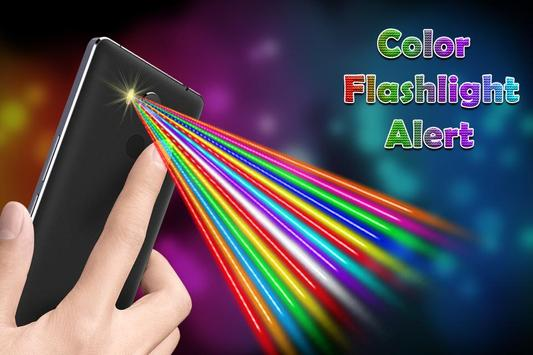 Color Flashlight on Call & SMS - Torch Flash Alert poster