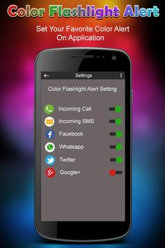 Color Flashlight on Call & SMS - Torch Flash Alert screenshot 1