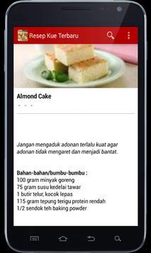 Resep Kue Terbaru apk screenshot