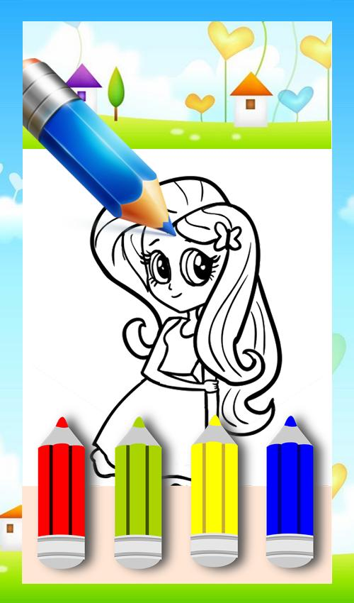 Coloring Book Equestria Girl Game poster