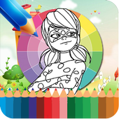 Coloring Book Ladybug Cat Noir Game icon