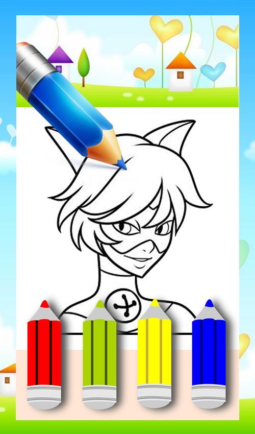 Coloring Book Ladybug Cat Noir Game poster