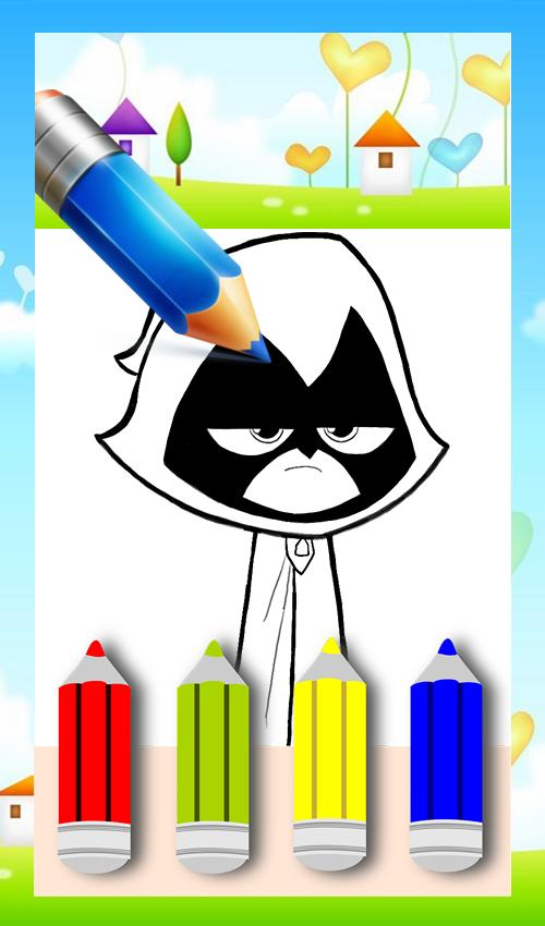 Coloring Book Teeny Titans Game poster