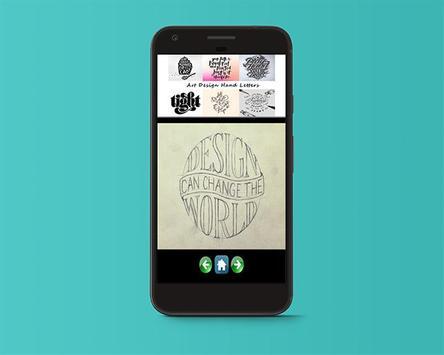 Art Design Hand Letters apk screenshot