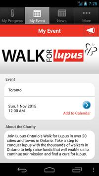 Walk for Lupus App screenshot 2