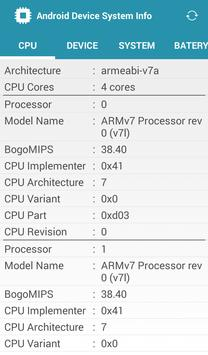 Device System Info For Android apk screenshot