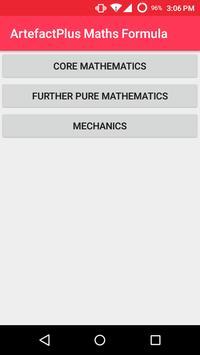 ArtefactPlus Maths Formula poster