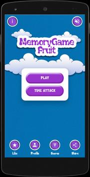 Fruits Memory Game for kids poster
