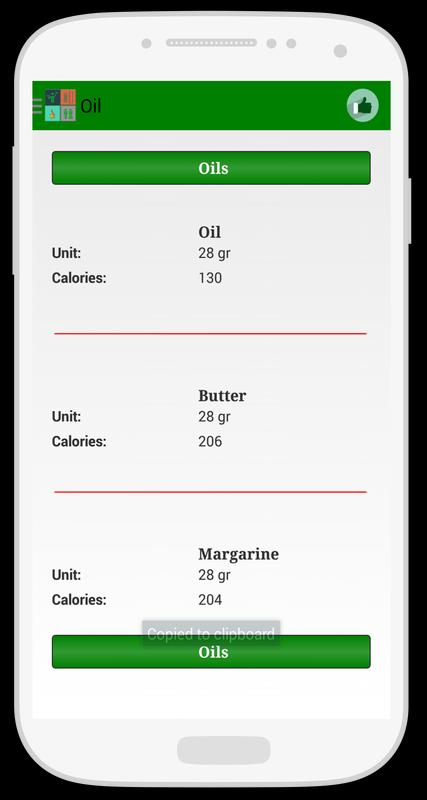 Free Download Food Calorie Calculator