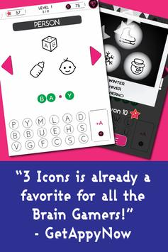 3 Icons 1 Word - Mind Puzzle poster