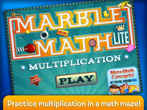 Marble Math Multiplication poster