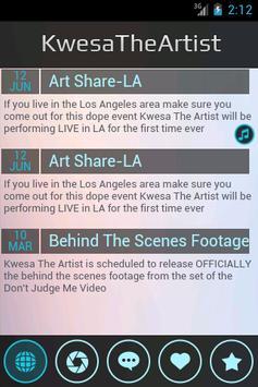Kwesa The Artist Experience screenshot 3