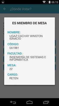 Elecciones UNMSM 2016 apk screenshot
