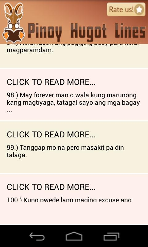 Pinoy Hugot Lines for Android - APK Download