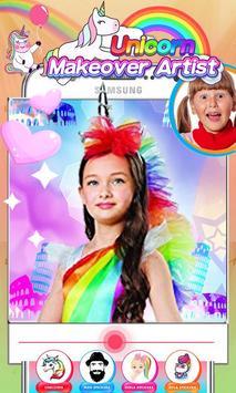 Unicorn Makeup Artist - Rainbow Salon poster