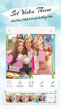 Birthday Slideshow Video Maker With Music poster